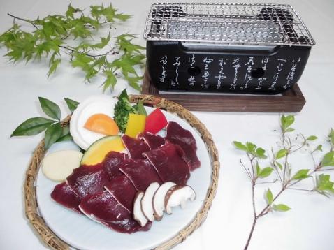 ジビエ料理(早川町の鹿肉)別注でスタートします